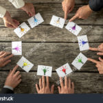 stock-photo-teamwork-and-brainstorming-concept-with-businessmen-seated-around-a-table-each-pointing-to-cards-306153968